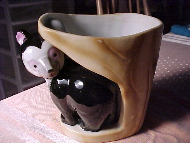 Vintage Planter With Panda Bear