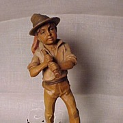 Old German Boy Wanderer Figure