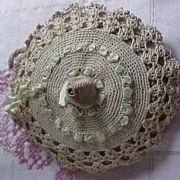 Vintage Crocheted Hanging Cushion