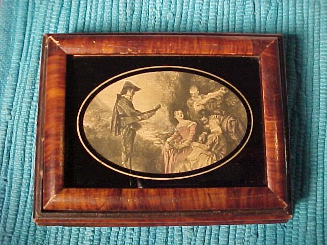 Small Wood Box With Inset Picture