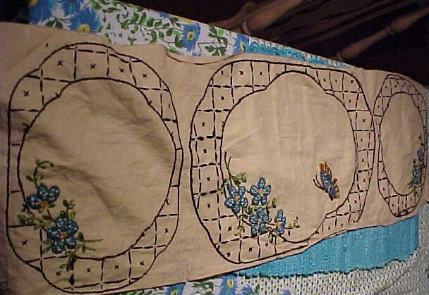Embroidered Buffet Set.......... Uncut