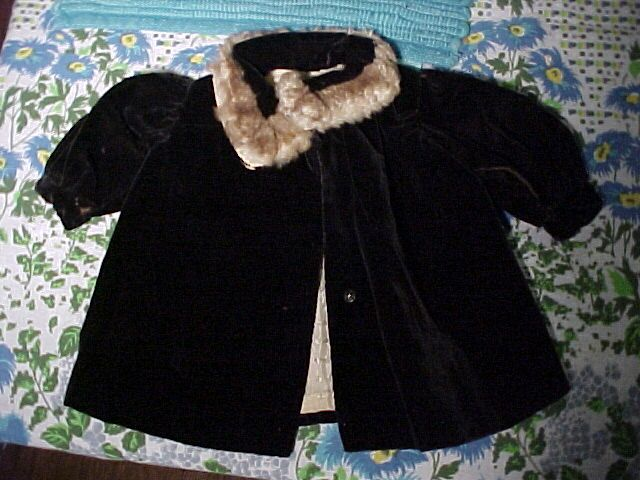 Fur Collared  Doll Coat