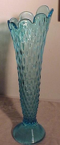 Beautiful  Vintage Blue Tall Vase