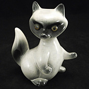 Vintage Roselane  Pottery Raccoon Figural A California Cutie!