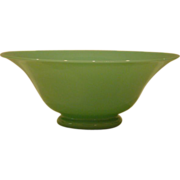 Green jade art glass bowl Stevens and Williams
