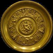 P E Guerin tall bronze compote tazza Diana the Huntress