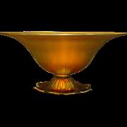Steuben gold aurene rare flower footed bowl shape 6058