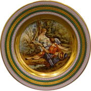 Vienna Austria beehive portrait plate Bird Catcher signed