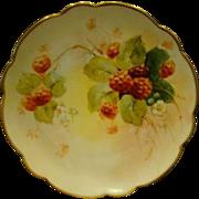 Pickard hand painted raspberries plate artist Maxwell Rean Klipphahn