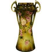 RS Prussia tall double  handed roses vase mold 940