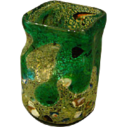 Murano Venetian Italian art glass grotesque vase inclusions lava drippings