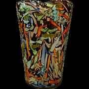 AVEM Murano huge Italian art glass vase amethyst