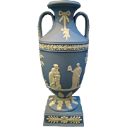 Wedgwood jasperware blue trophy vase hard to find