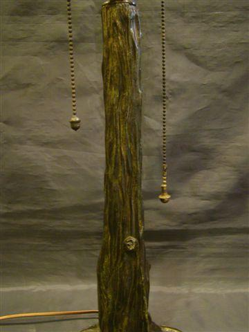 Pairpoint tree trunk lamp base 3092 for apple or orange blossom ...