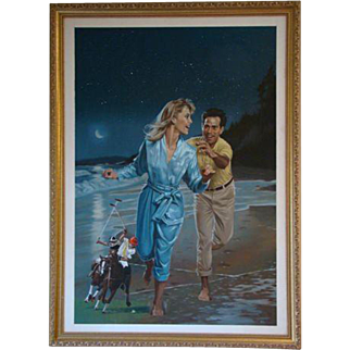 Danny Crouse Harlequin Romance Winner Take All #210 Laurien Berenson oil painting illustrationist art