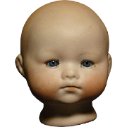Antique German baby doll head signed numbered