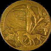 Bronze Medallic Art Company medallion The Will to Achieve Avard Fairbanks 1929