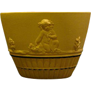 Wedgwood yellow jasperware bowl centaurs