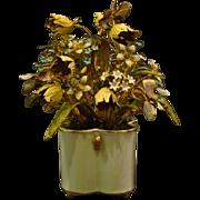 Jane Hutcheson Gorham enameled floral arrangement Fleurs des siecles original tag