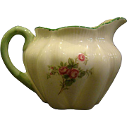 Shelley fine bone china red roses creamer cream pitcher green trim