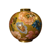 Royal Crown Derby ornate hand painted floral gilded vase