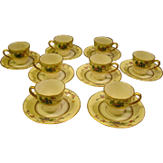 Lenox Mandarin set of 8 demitasse cups and saucers Ovington