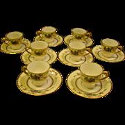 Lenox Mandarin set of 8 demitasse cups and saucers Ovington