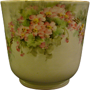 Jean Pouyat Limoges hand painted floral planter jardiniere