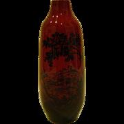 Royal Doulton flambe scenic landscape vase