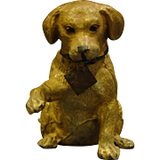 Austrian cold painted spelter figural dog lighter lab