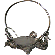 Kate Greenaway Victorian silverplate brides bowl holder Reed & Barton