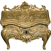 Antique French miniature desk bureau jewelry or dresser box