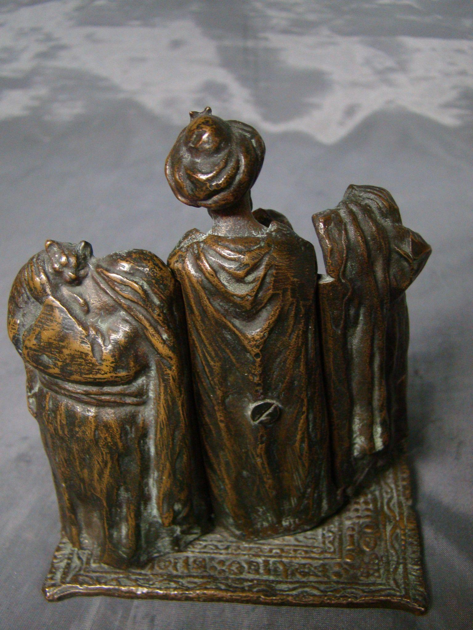 Austrian antique hidden erotic bronze sculpture Arabic man