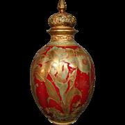 Royal Crown Derby Ovington Bros New York gilded iris covered urn vase