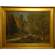 Friedrich Wilhelm Schwinge German listed artist impressionist landscape oil painting