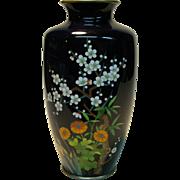 Japanese cloisonne floral vase