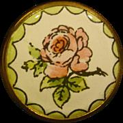 Battersea Bilston round enamel roses pill or trinket box