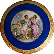 Limoges porcelain three footed trinket box courting scene