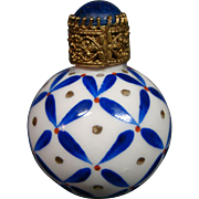 Limoges porcelain perfume bottle artist signed