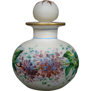 Victorian hand painted floral violets perfume cologne bottle