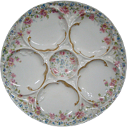 Theodore Haviland Limoges porcelain five well oyster plate
