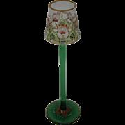 Myers Neff Theresienthal Bohemian art glass tall flower form stem liquer goblet