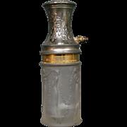 Rene R Lalique dancing women art glass  perfume bottle Le parisien SDGD atomizer
