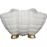 Royal Worcester three footed shell shaped dish bowl