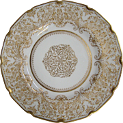 Royal Doulton gilded ornate decorative plate HB4807 Collamore & Co New York