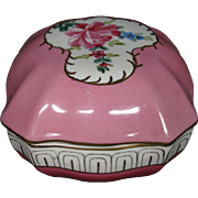 Regal china large pink roses floral porcelain covered box