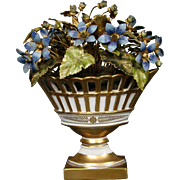 Jane Hutcheson enameled floral arrangement flowers for Gorham