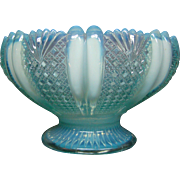 English opalescent pattern glass center bowl registry mark
