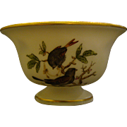 Herend Rothschild Bird pedestal footed salt dip
