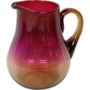 Libbey Amberina small cream pitcher creamer great color